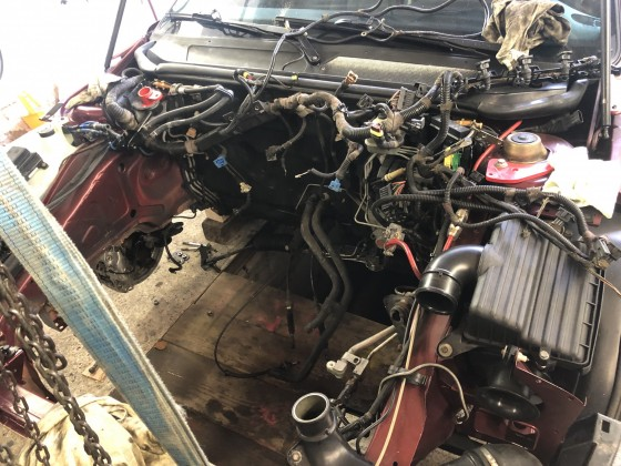 Ohne den Motor ist da viel Platz
